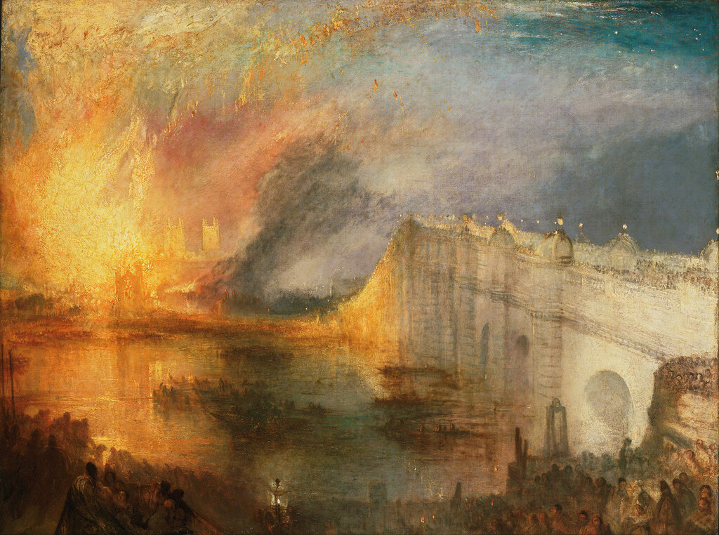 The Burning of the Houses of Lords and Commons, 16th October 1834, 1835.jpg