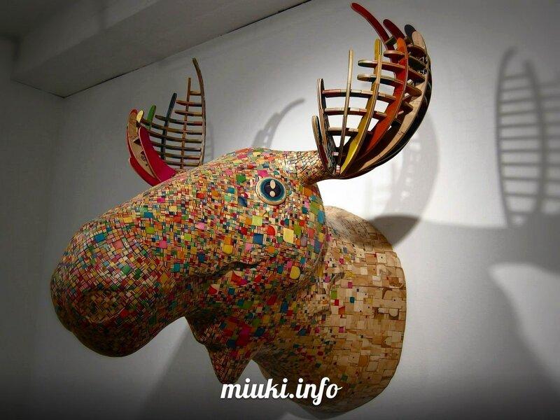 Haroshi. Дизайнер из Японии и его скульптуры из скейтбордов