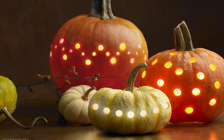 тыквы, светильник джека, хэллоуин