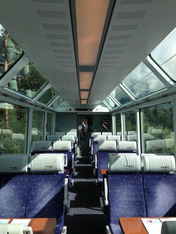 Вот так Glacier Express выглядит изнутри