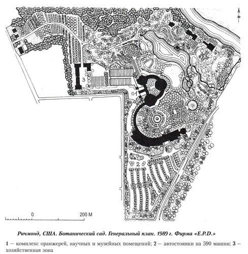 Ричмондский Ботанический сад, генеральный план
