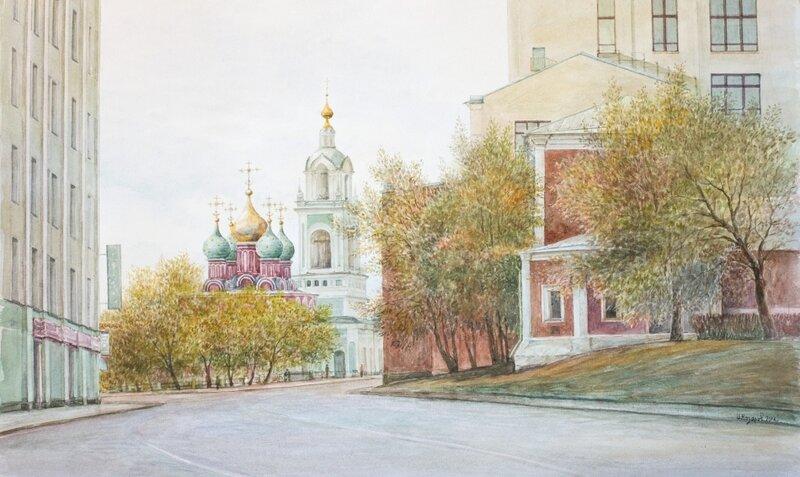 Иван Назаров. Москва. Улица Варварка (Вид со Старой площади). 2014