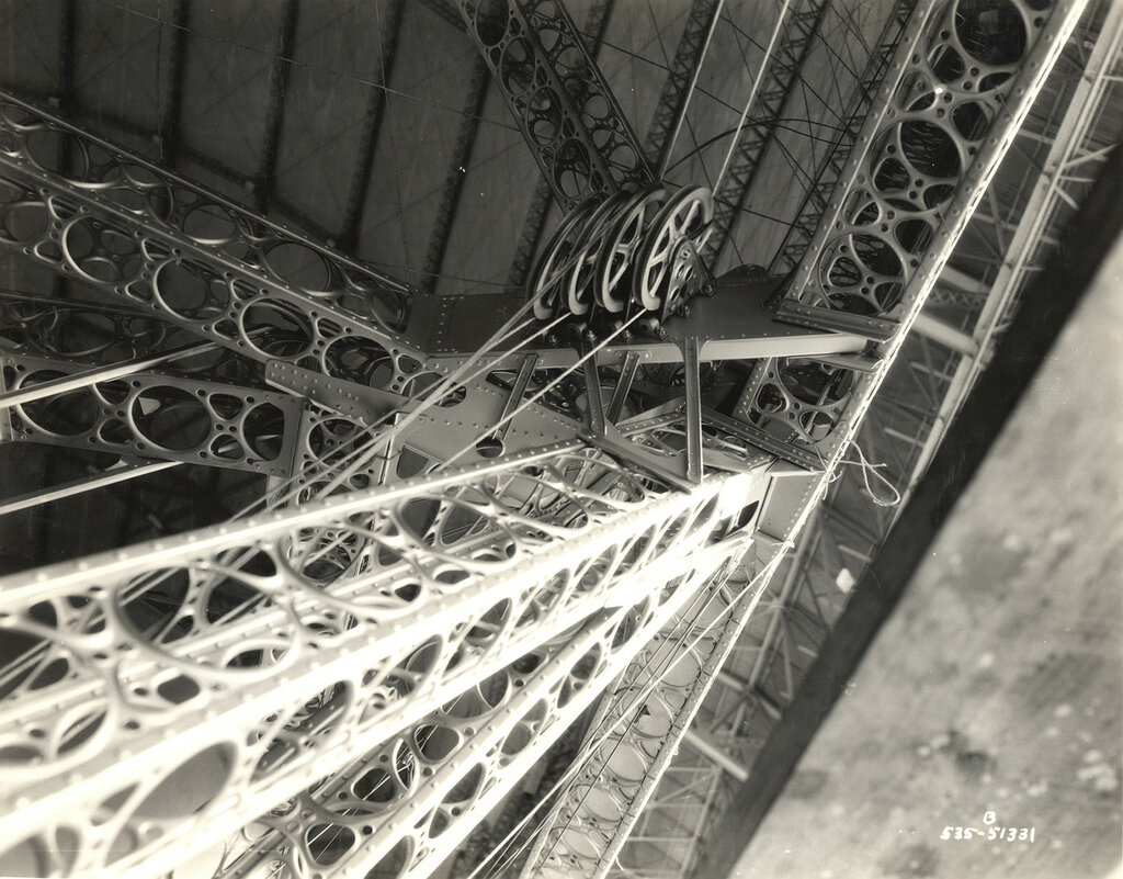 Control Wires and Pulleys on a Dirigible