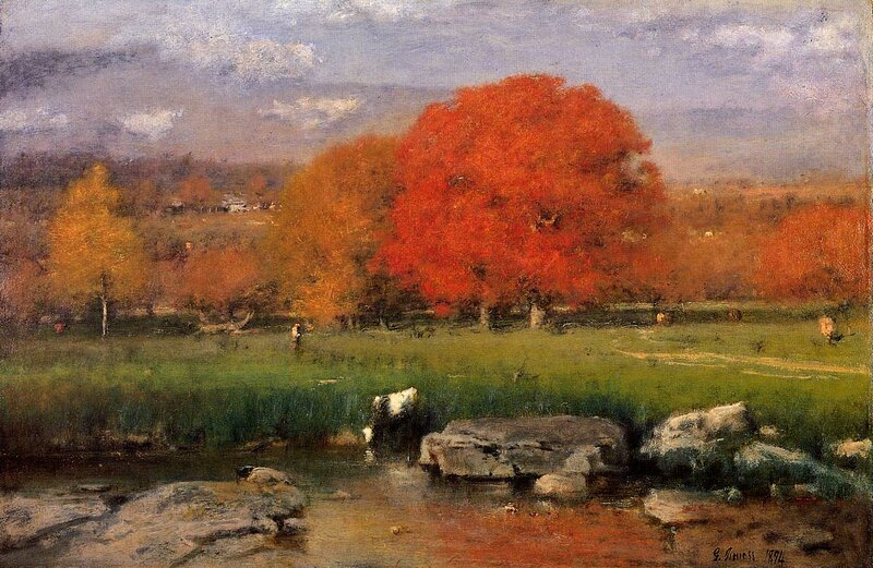 Inness George. Morning Catskill Valley aka The Red Oaks