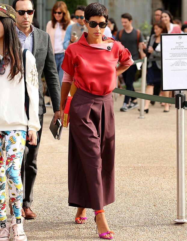 Princess Deena Aljuhani Abdulaziz attends the Chloe SS 2015 show at Grand Palais on September 28, 2014 in Paris, France