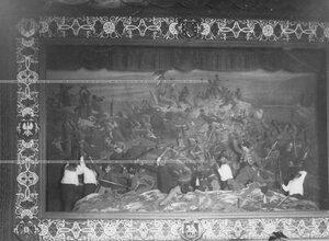 """""""Оборона Севастополя"""" - сцена из постановки живых исторических картин."""