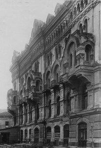 Боковой фасад здания театра со стороны Черноморского переулка после пожара.
