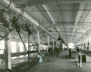 Работы строительной конторы товарищества Бодо - Эгесторф и К^  по сооружению фабричного корпуса товарищества Скороход.