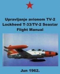 Upravljanje avionom TV-2. Lockheed T-33/TV-2 Seastar. Flight Manual