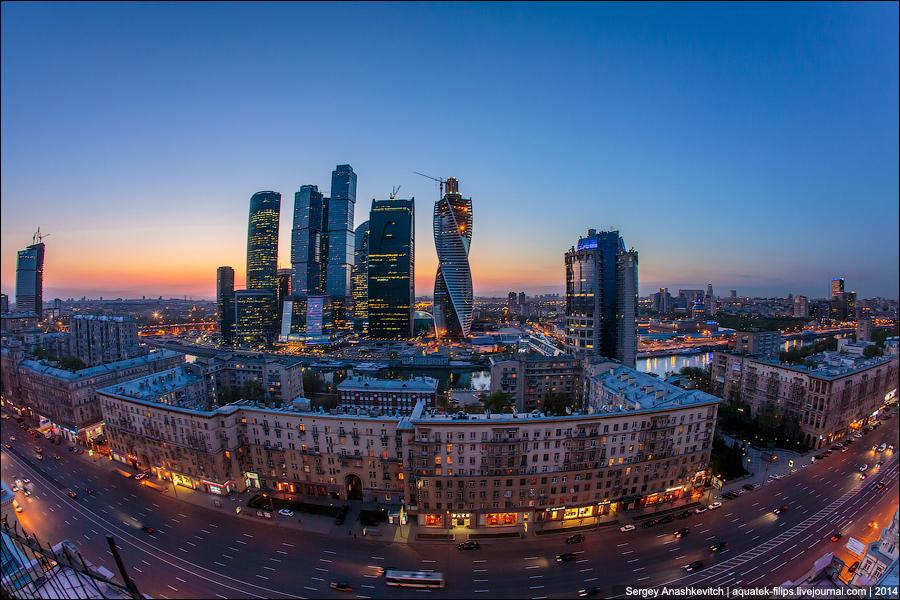 Вечер московского Сити