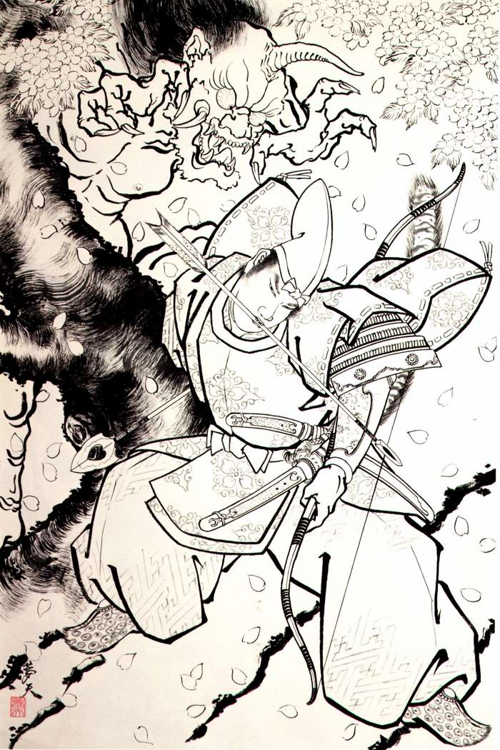 Злобные демоны на эскизах татуировок японского художника Horiyoshi (46)