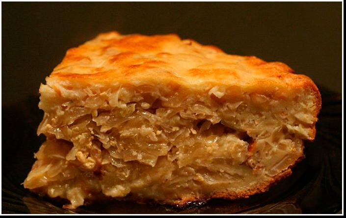 Ленивый заливной пирог фотография рецепт