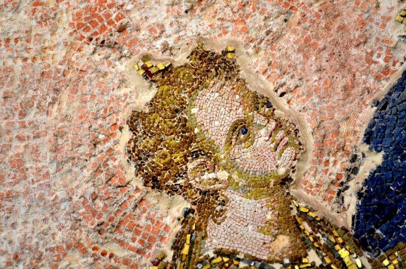 Богоматерь Хора ту Ахориту. Мозаика монастыря Хора в Константинополе. 1315 - 1321 годы. Фрагмент. Младенец Христос.