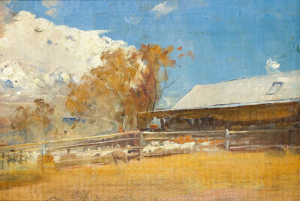 Tom Roberts - Shearing Shed, Newstead, 1894.jpeg
