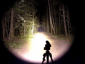 Подствольный охотничий фонарь - EagleTac T200C2 NW XM-L2 T6 светит так: Турбо режим, iso 200