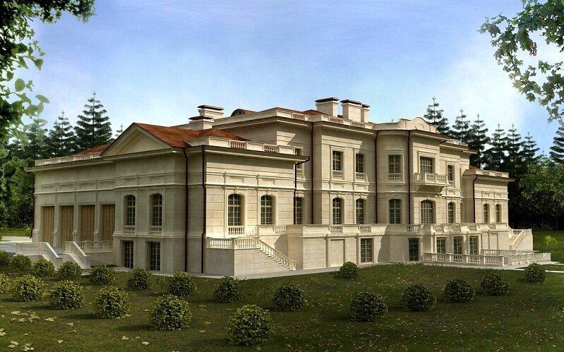 Проект частного дома. Фасад 5