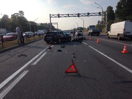В Минске на Партизанском проспекте погиб мотоциклист