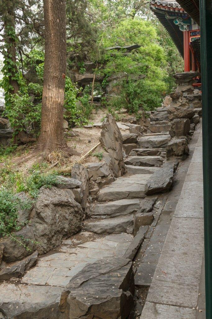 Ступени в скале, резиденция князя Гуна, Гунванфу, Пекин