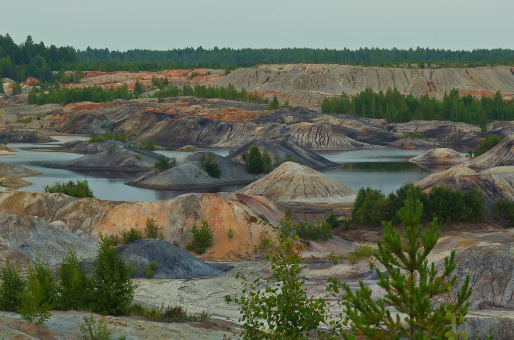 Фото 5. Разноцветный пейзаж на закате. Камера Nikon D5100