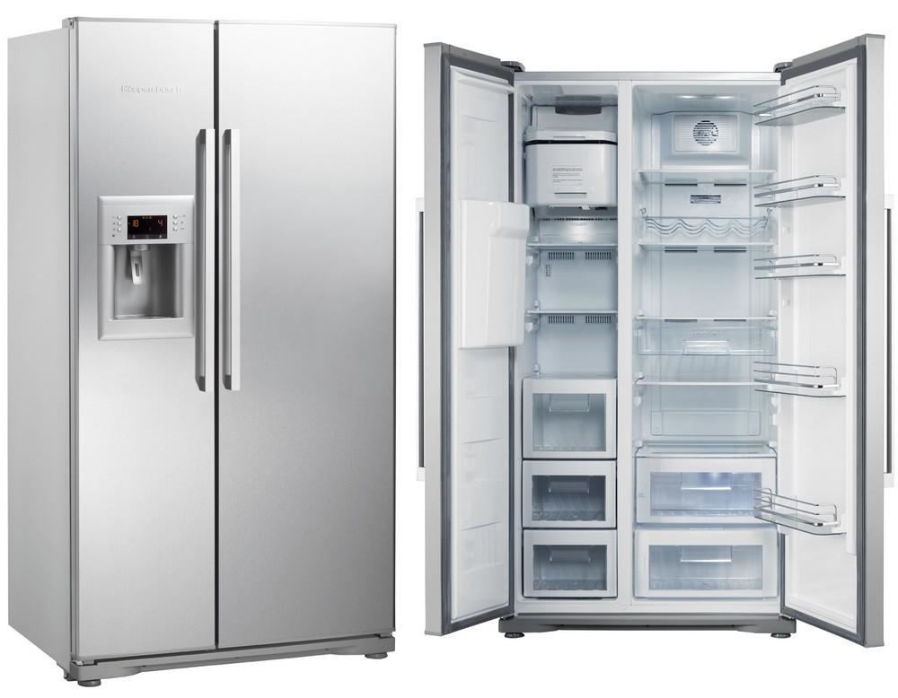 холодильник из нержавейки SIDE-BY-SIDE сайд-бай-сайд