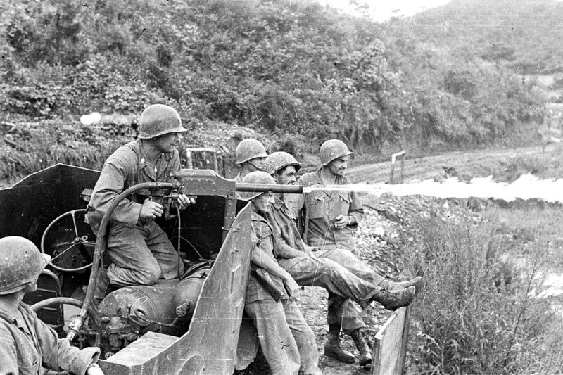 Le Bataillon Français de l'ONU en Corée.
