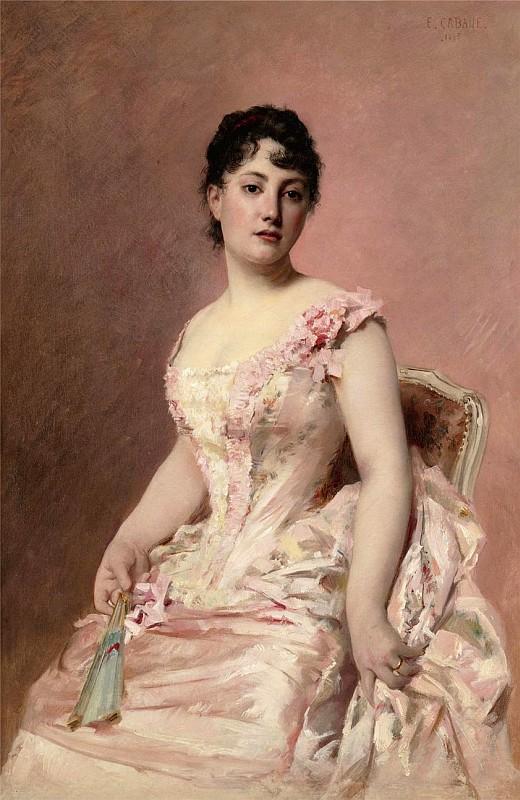 Cabane Edouard, Lady in Pink, 1885