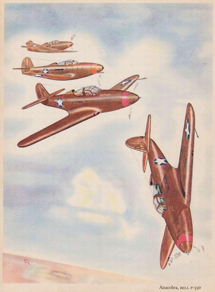 Bell Aircobra P-39D - истребители