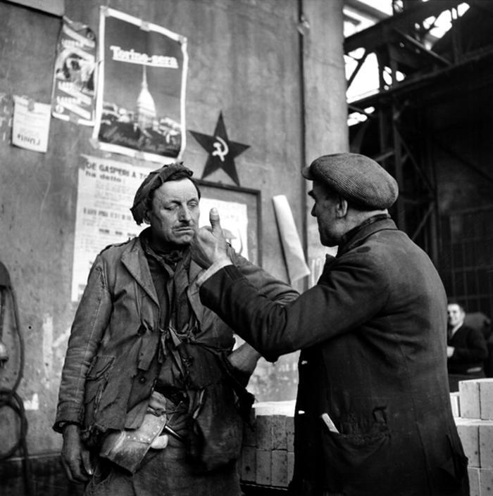 Италия, Турин, 1948 год - Работники завода Fiat