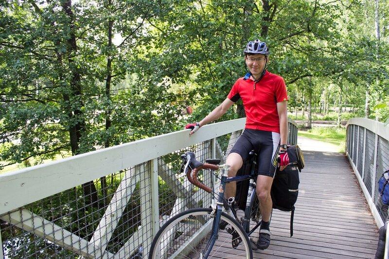 на мосту через речку Vaaksynjoki в Ваксю (Vaksy)