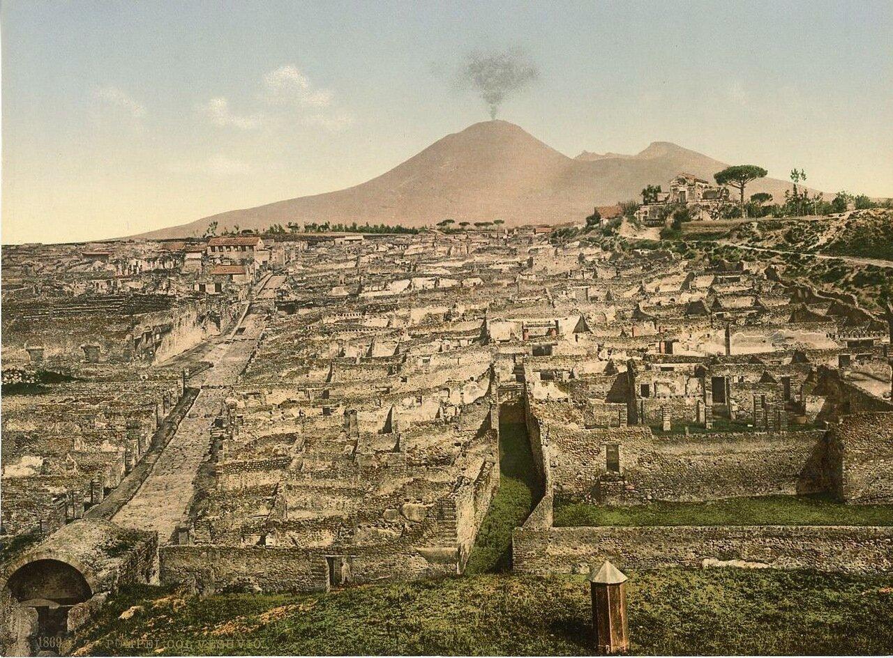 1880. Панорама города и Везувия