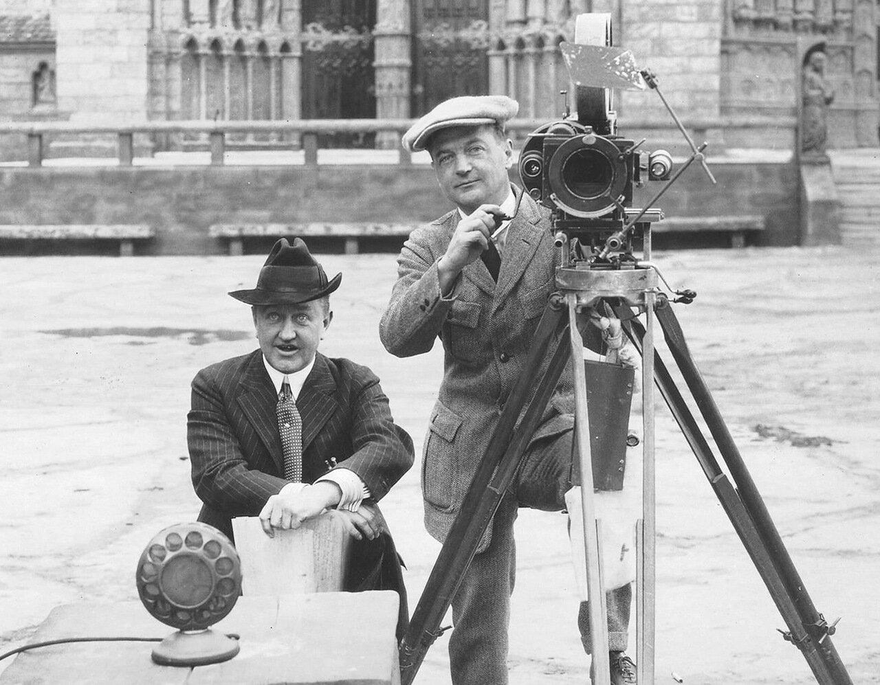 1923. Съемки фильма Горбун из Нотр-Дама