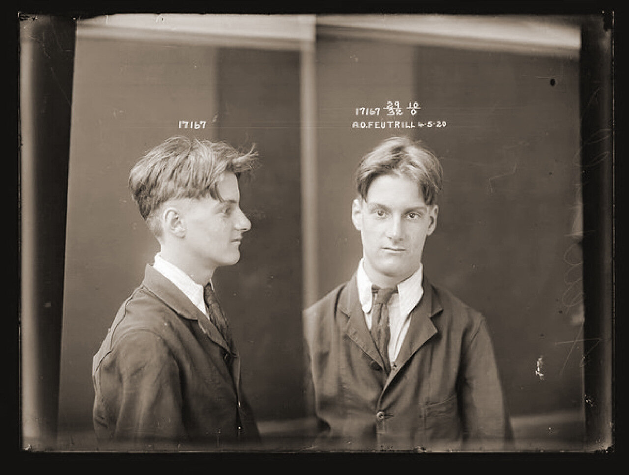 14.Фейтрилл — малолетний вор, взломщик. На момент ареста было 16 лет. После того как отмотал срок попался на краже еще раз в 1928 году.