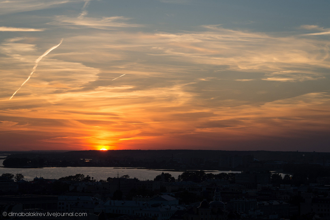 Казань на закате