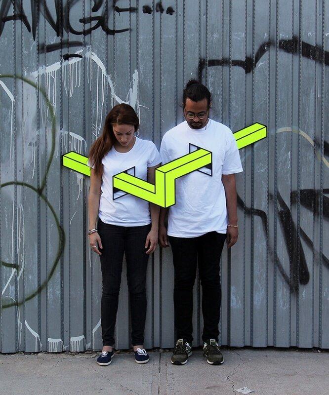 Пронизывающие геометрические фигуры в стрит-арте