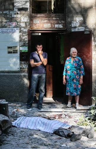 повседневность Донецка: убитые и разрушения