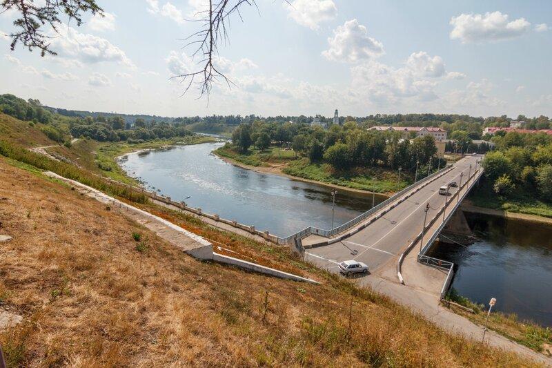 """Старый"" мост и река Волга, Ржев"