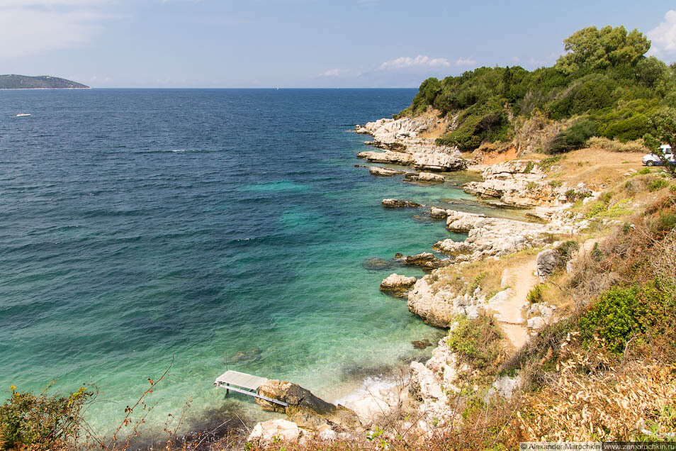 Скалистые берега Кассиопи (о. Корфу)