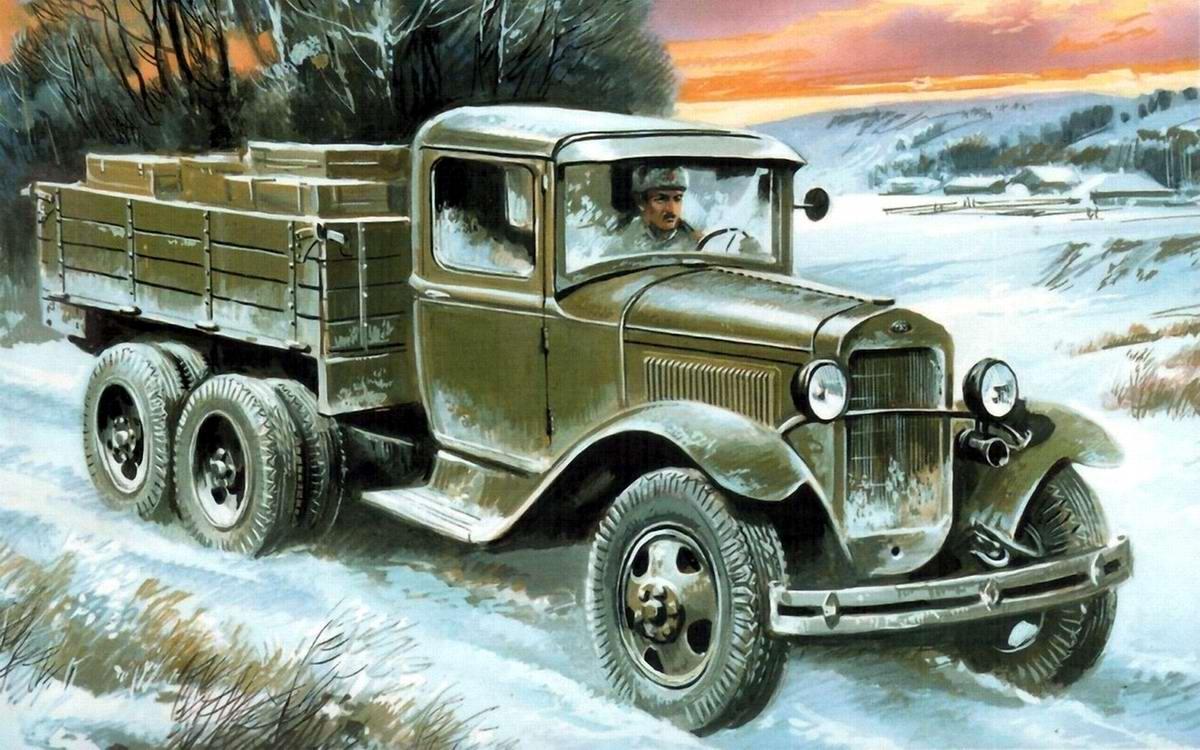 Армейский грузовой автомобиль ГАЗ-АА