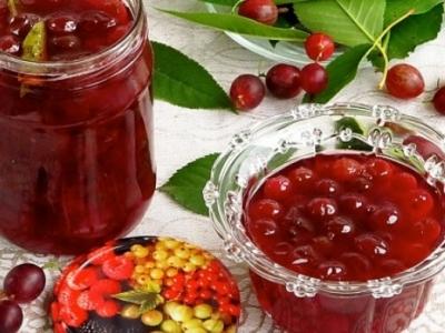 Варенье из крыжовника, малины и смородины