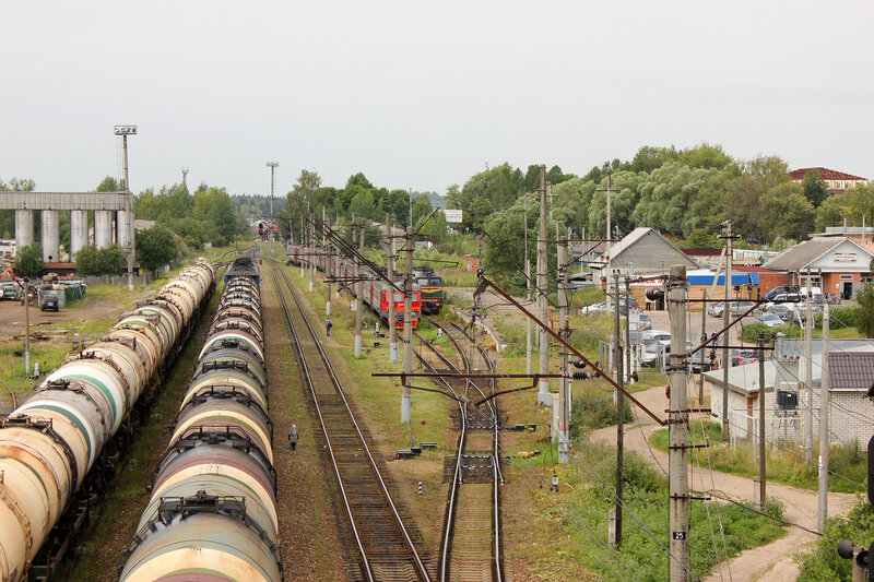 Станция Шаховская, вид на Ржев