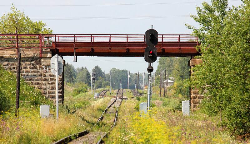 Станция Ржев-Балтийский, вид на Мелихово