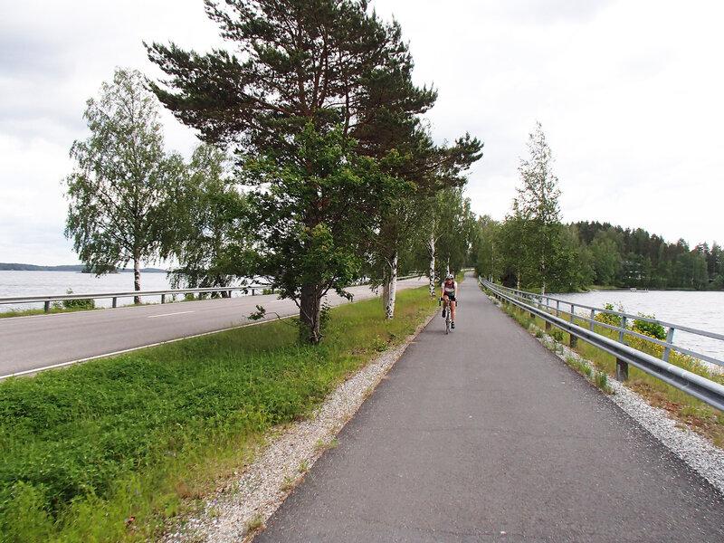 велодорожка по 13-му веломаршруту за Лаппеенрантой