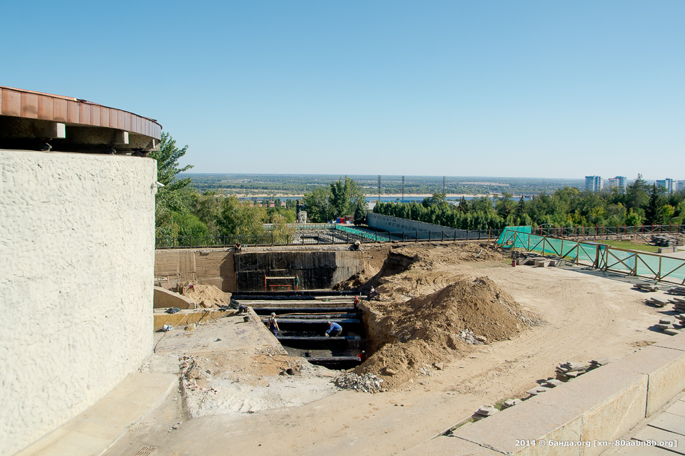 Ремонт Мамаева кургана / 18 сентября 2014 год