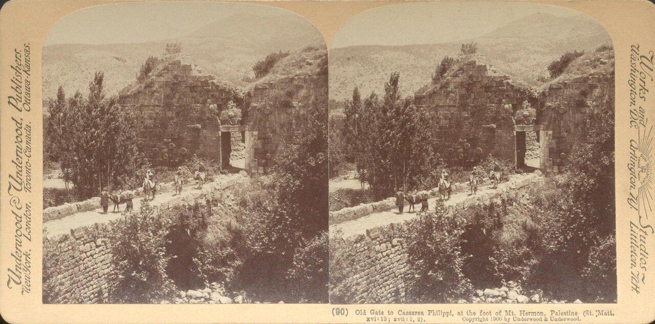 Старые ворота в Кейсарии Филипповой у подножия горы Кармель. 1900