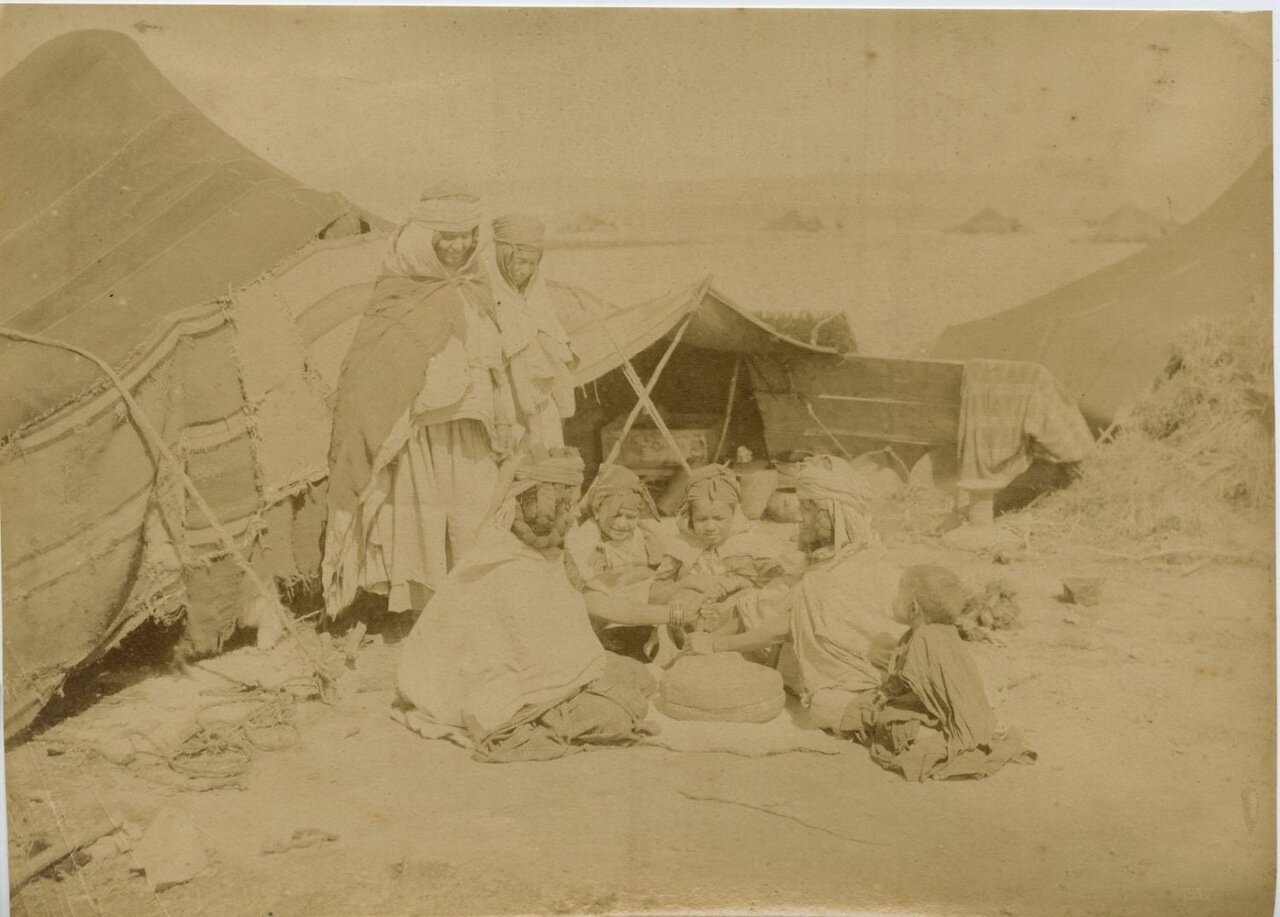 1875. Семья арабов