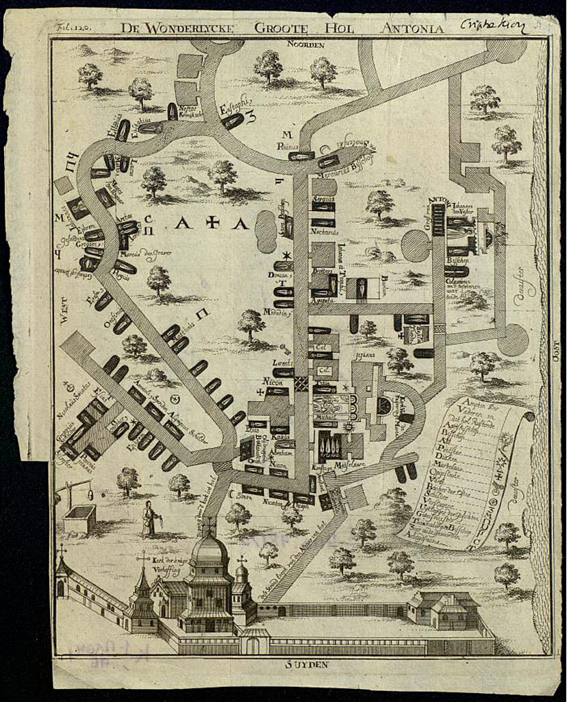 1789 .Планы дальних и ближних пещер св. Антония и св. Феодосия близ Киева.