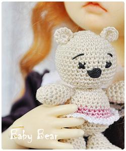 Teddy bear for BJD