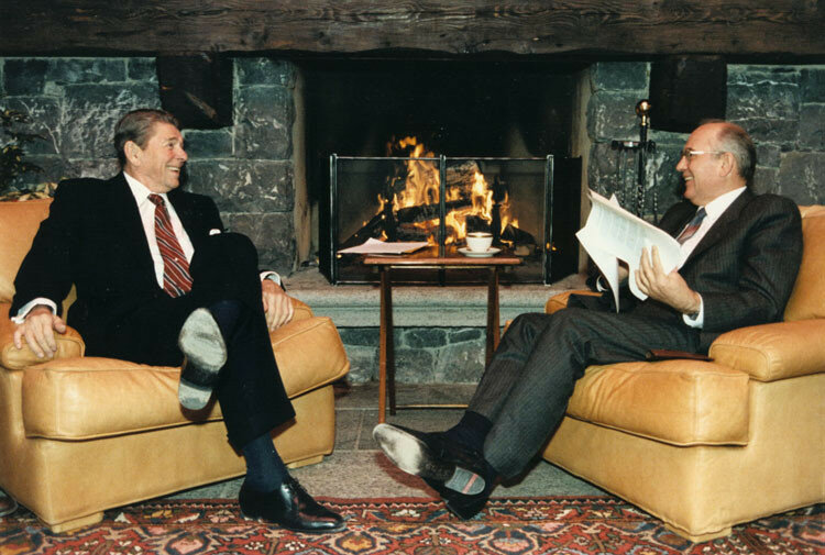 Reagan and Gorbachev at the first Summit in Geneva - 19 November 1985.jpg