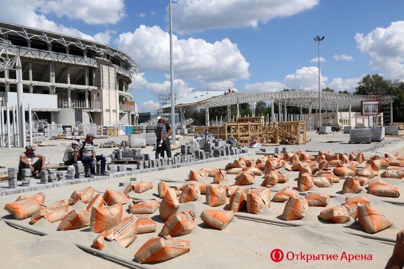 Строительство стадиона «Спартак». Июль 2014 (Фото)