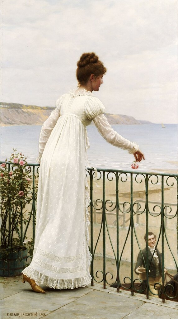 Edmund Blair Leighton, 1853-1922. Милость. 1898. 66 x 35 см. частная коллекция.jpg